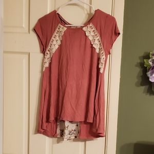Women's Short Sleve Vintage Top